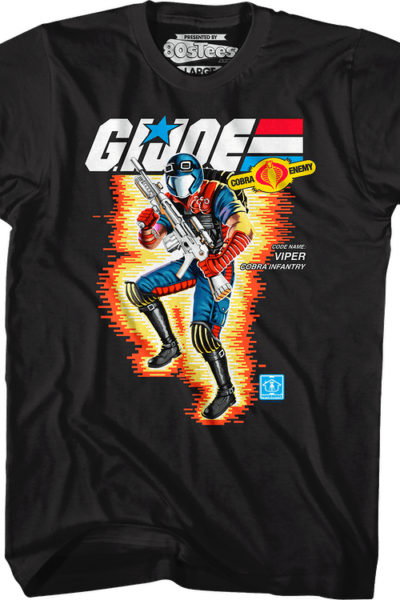 Box Art Viper GI Joe T-Shirt