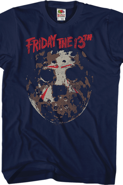 Distressed Hockey Mask Friday the 13th T-Shirt