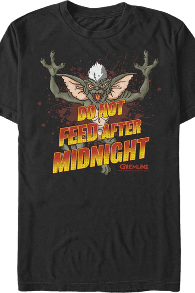 Do Not Feed After Midnight Gremlins T-Shirt