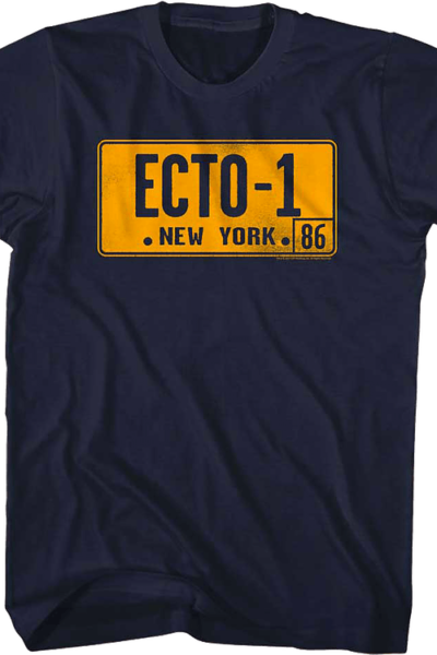 Ecto-1 License Plate Real Ghostbusters T-Shirt