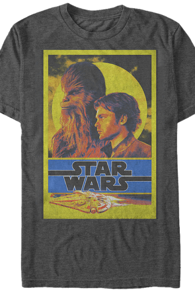 Han Solo and Chewbacca Star Wars T-Shirt