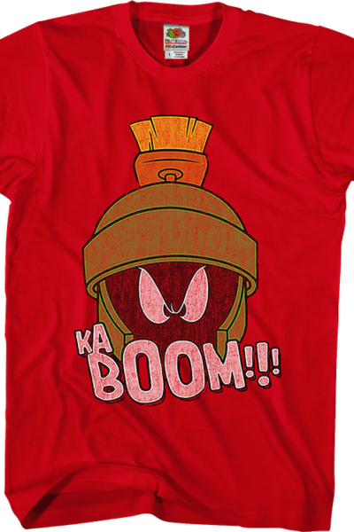 Kaboom Marvin The Martian Looney Tunes T-Shirt