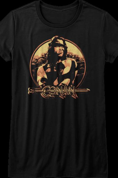 Ladies Distressed Conan The Barbarian Shirt