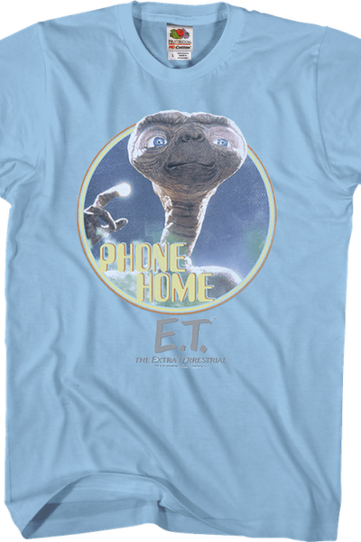 Light Blue Phone Home ET Shirt