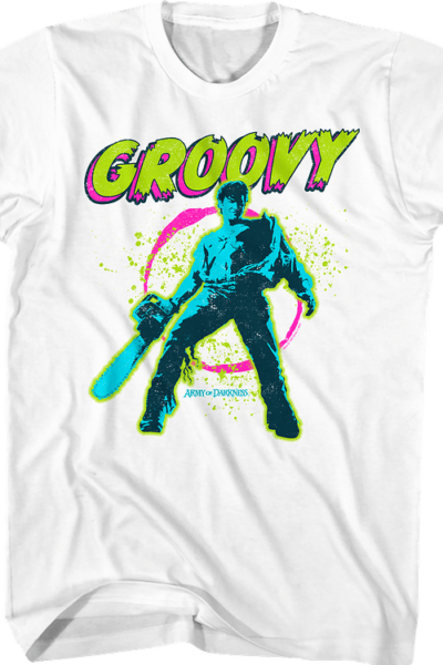 Neon Groovy Army of Darkness T-Shirt