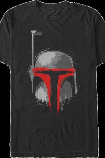 Paint Splatter Boba Fett Star Wars T-Shirt