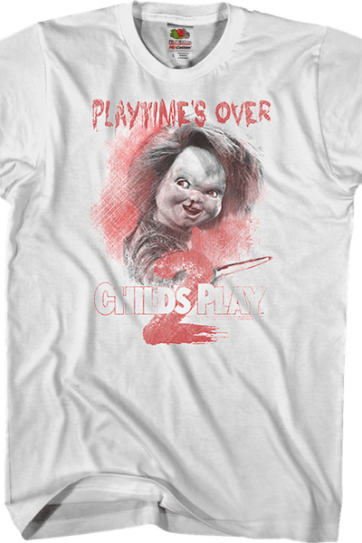 Playtime's Over Child's Play 2 T-Shirt