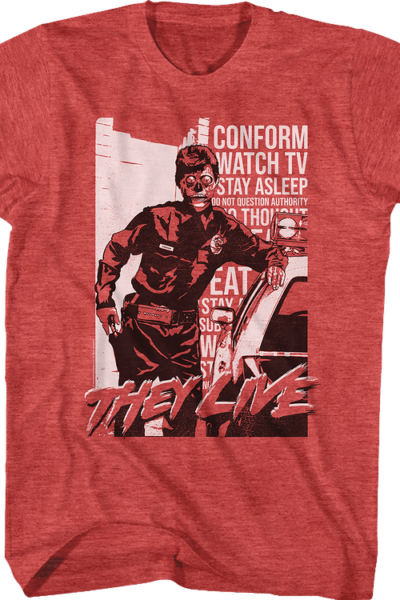 Police Propaganda They Live T-Shirt