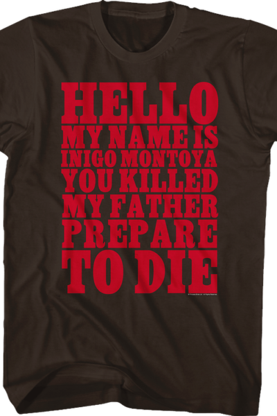 Princess Bride Inigo Montoya T-Shirt