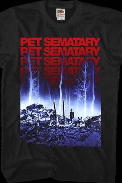 Repeating Logo Pet Sematary T-Shirt