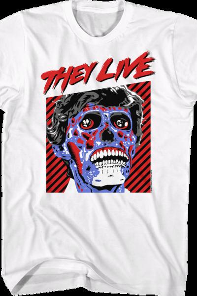 Retro Alien They Live T-Shirt