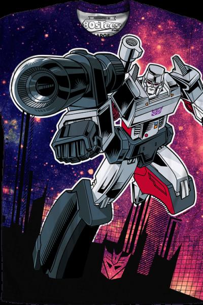 Sublimation Galaxy Megatron Transformers Shirt