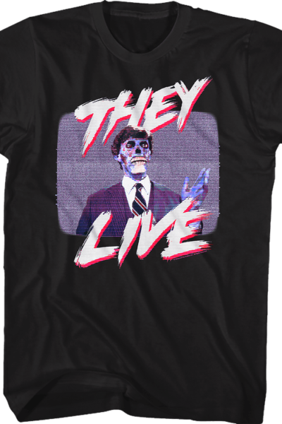 Television Static They Live T-Shirt