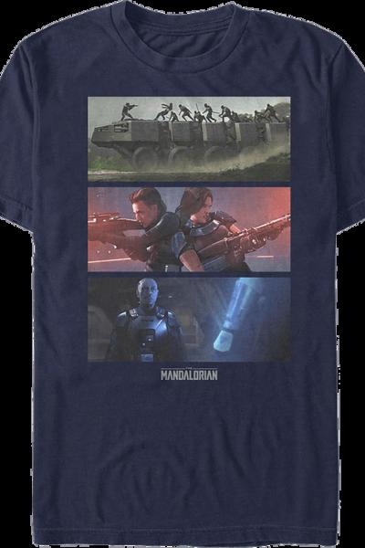 The Mandalorian Panels Star Wars T-Shirt