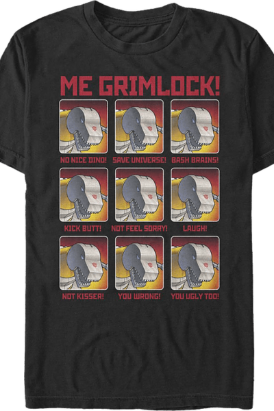 The Many Moods Of Grimlock Transformers T-Shirt