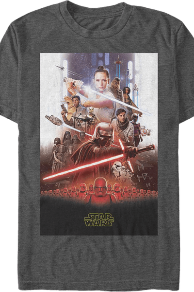 The Rise Of Skywalker Movie Poster Star Wars T-Shirt