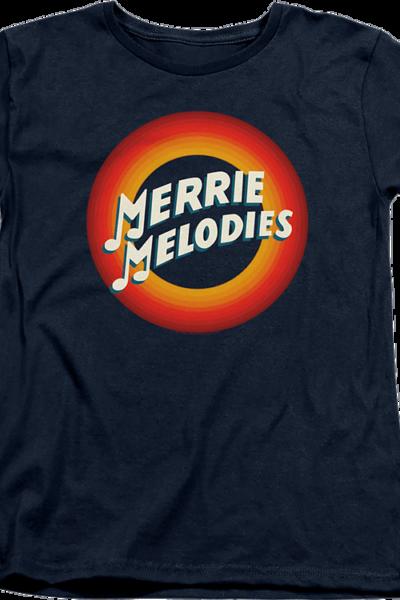 Womens Merry Melodies Logo Looney Tunes Shirt