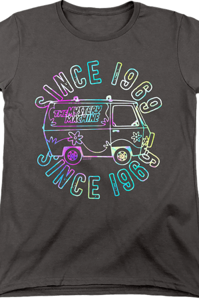 Womens Psychedelic Mystery Machine Scooby-Doo Shirt