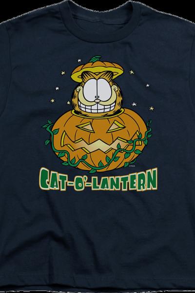Youth Cat-O'-Lantern Garfield Shirt