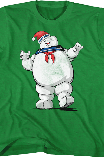 Youth Stay Puft Santa Claus Hat Real Ghostbusters Shirt
