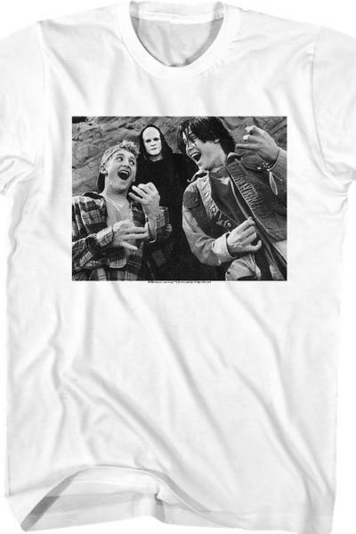 Black and White Air Guitars Bill and Ted