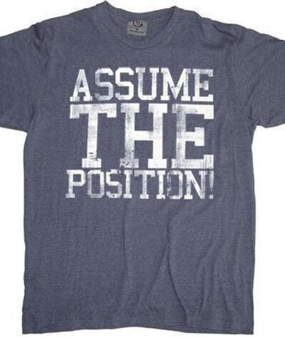 Animal House Assume The Position Adult T-shirt