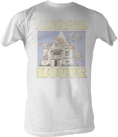 Animal House Distressed Cartoon T-shirt