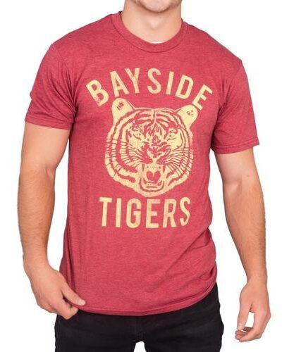 Bayside Tigers Heathered Burgundy T-shirt