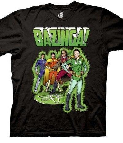 Bazinga Comic Book Characters T-shirt