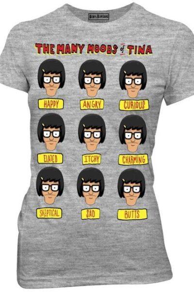 Bob's Burgers Many Moods Of Tina Belcher T-Shirt