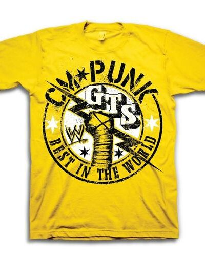 CM Punk GTS Best In The World Yellow Youth T-Shirt