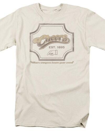 Cheers Bar Sign 1985 Cream T-shirt