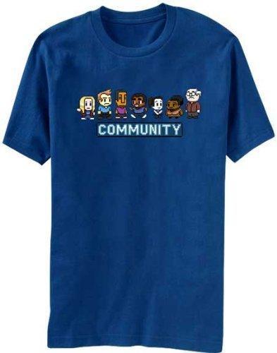Community 8 Bit Adult Royal Blue T-shirt
