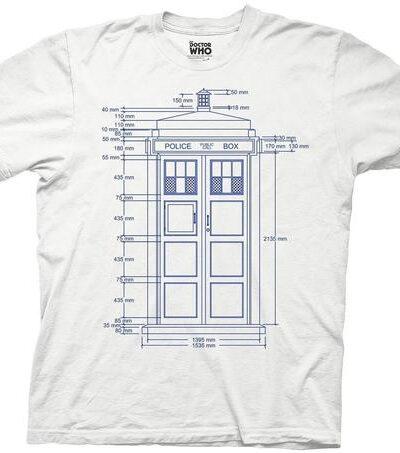 Doctor Who Police Box Tardis Blueprint T-shirt
