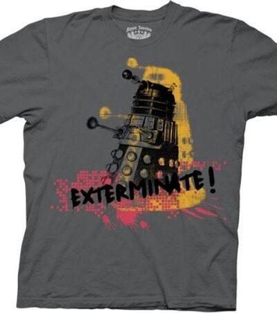 Doctor Who Robot Exterminate Splatter T-shirt