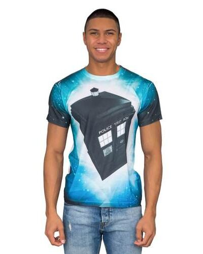 Doctor Who TARDIS Glowing Stars Sublimation T-Shirt