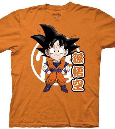 Dragon Ball Z Goku Chibi With Kanji T-shirt