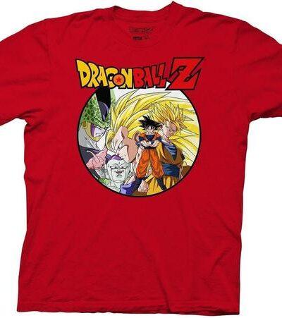 Dragon Ball Z Saiyan Group With Enemies T-Shirt