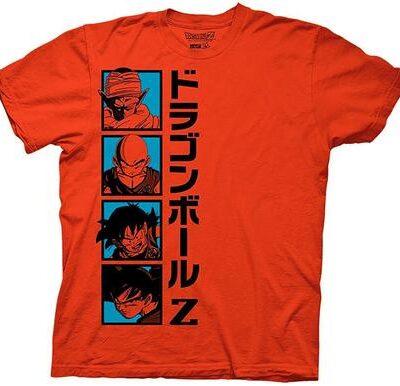 Dragon Ball Z Vertical Character Squares T-shirt
