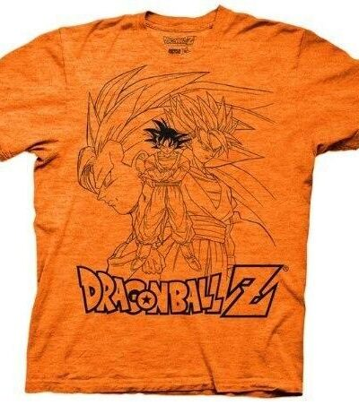 Dragonball Z Goku Collage Outline T-Shirt