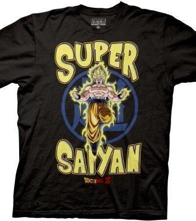 Dragonball Z Super Saiyan Yellow Text T-Shirt