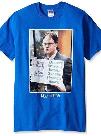 Dwight Schrute Acronym Portrait Royal Blue T-shirt