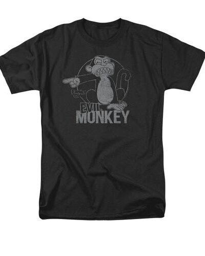 Family Guy Evil Monkey Adult Black T-Shirt