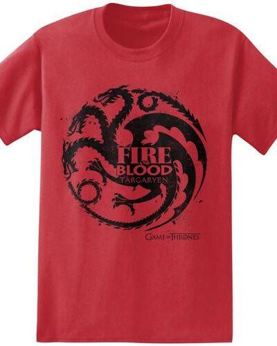 Fire and Blood Targaryen Symbol T-Shirt