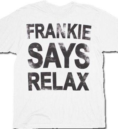 Frankie Says Relax Distressed T-Shirt Tee
