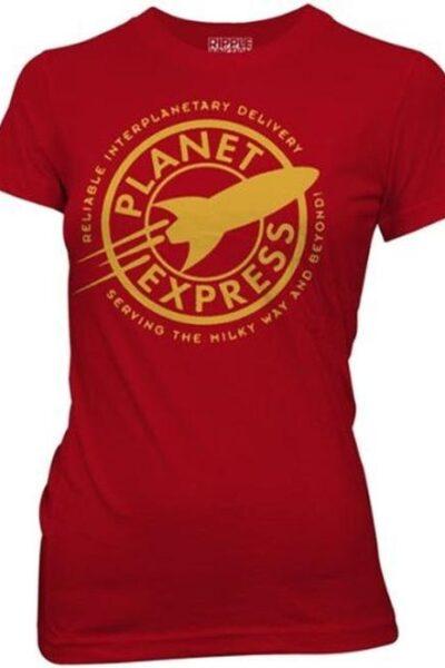 Futurama Planet Express Red Juniors Tee