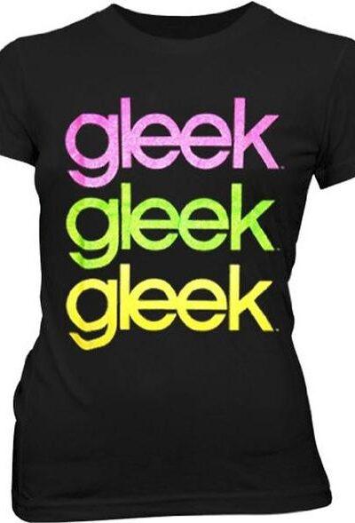 Glee Cubed Glitter Text T-shirt