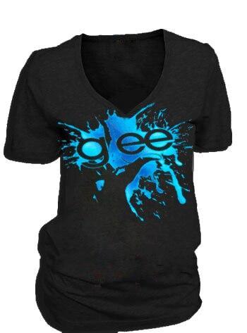 Glee Finger Splat Foil Highlights V-Neck T-shirt