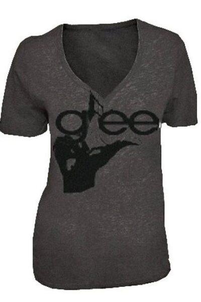 Glee Hand V-Neck Acid Washed T-shirt