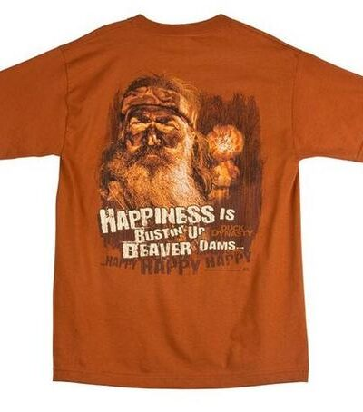 Happiness is Bustin' Up Beaver Dams T-shirt